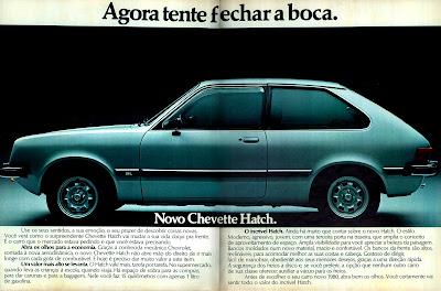 propaganda Chevette Hatch - 1979