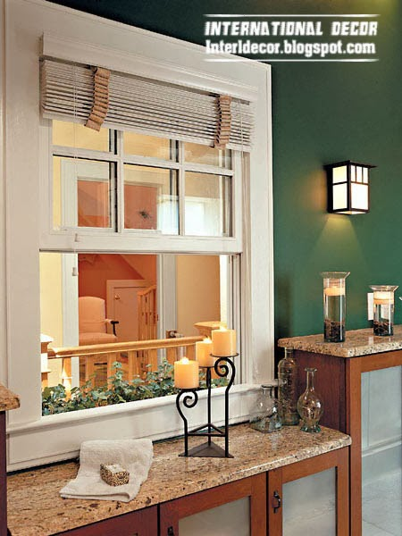modern roller blinds for bathroom window