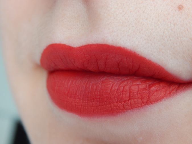 Lip Swatch Sephora Creram Lip Stain 01 Always Red