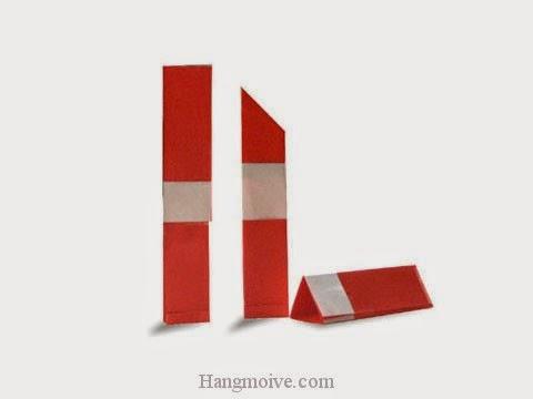 Cách gấp, xếp cái thỏi son môi bằng giấy origami - Video hướng dẫn xếp hình đồ thời trang - How to fold a Lipstick