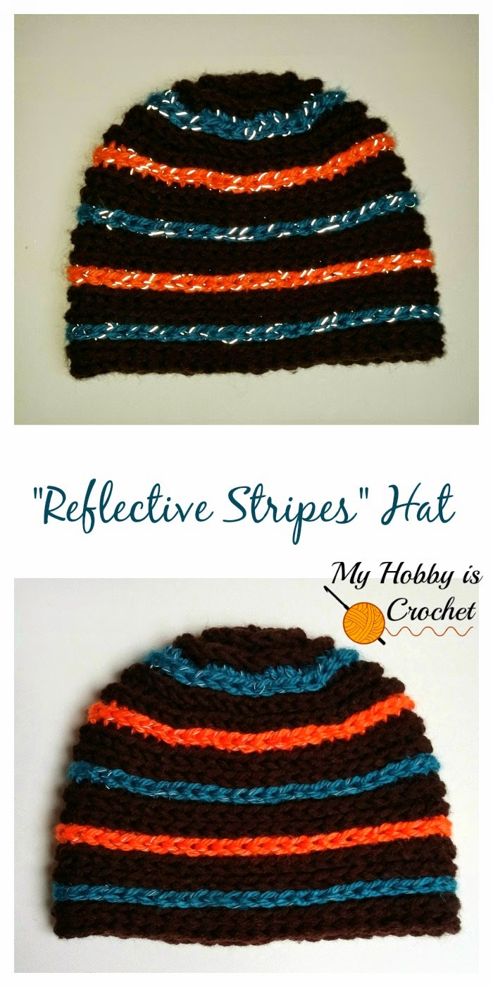 """My Hobby Is Crochet: """"Reflective Stripes"""" Hat for Children and ..."""