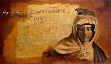 """Cuaresma de León 2016. Cartel del Blog EL SEISE. """"SUB TUUM PRAESIDIUM"""". Autor: Pablo Lanchares"""
