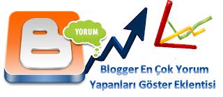 Blogger Eklentisi - En Çok Yorum Yapan Kullanıcıları Göster