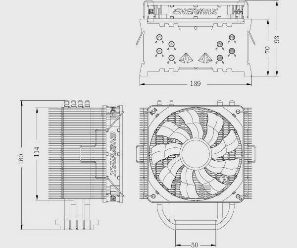ENERMAX ETS-T40 WHITE CLUSTER DIMENSI