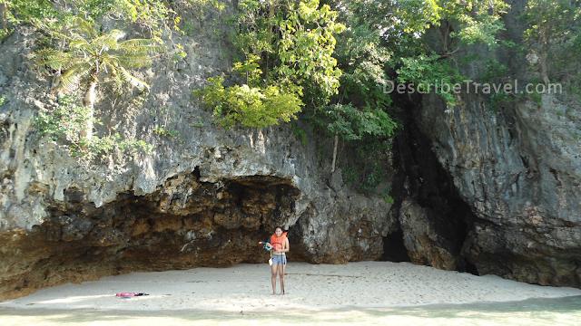 beautiful rock view at turtle island guimaras