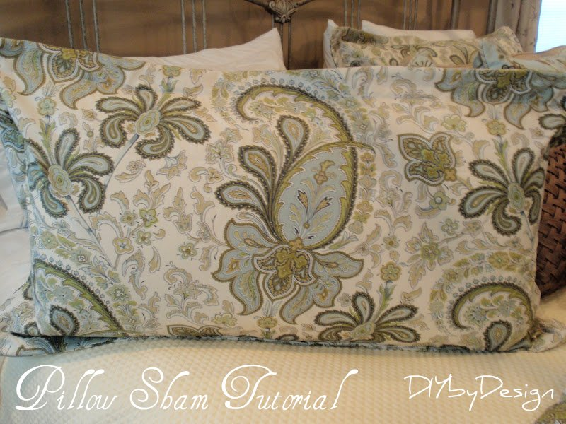 Pillow Sham Pattern King: DIY by Design  How to Make a King Size Pillow Sham,