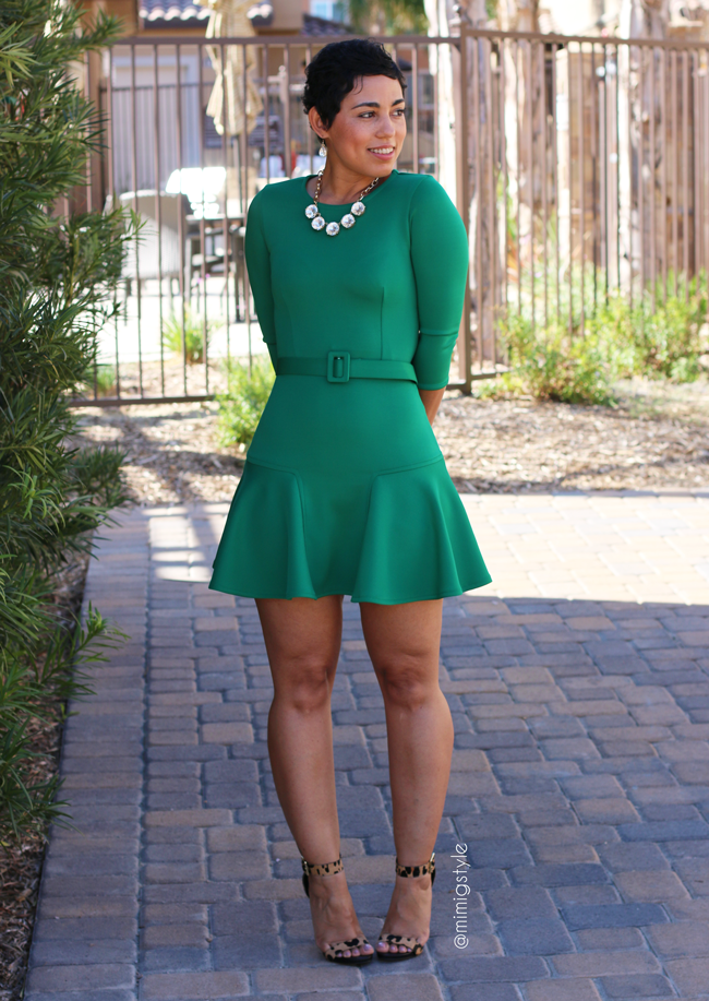 diy green mini dress