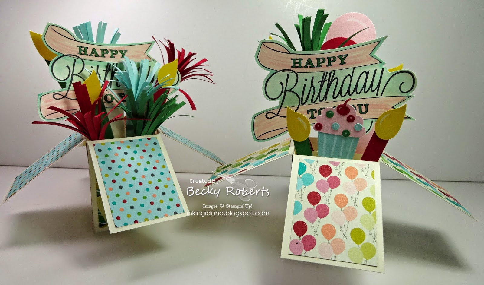 Inking Idaho Birthday Explosion Boxes – Birthday Cards in a Box
