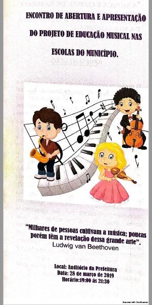 PROJETO DE EDUCAÇÃO MUSICAL NAS ESCOLAS DE ITARANTIM