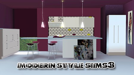 My sims 3 blog greno kitchen set by modern style sims 3 for Modern kitchen sims 3