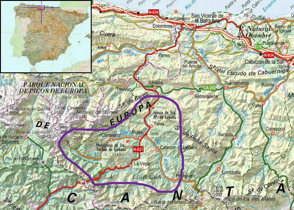 Image result for liebana valley cantabria map