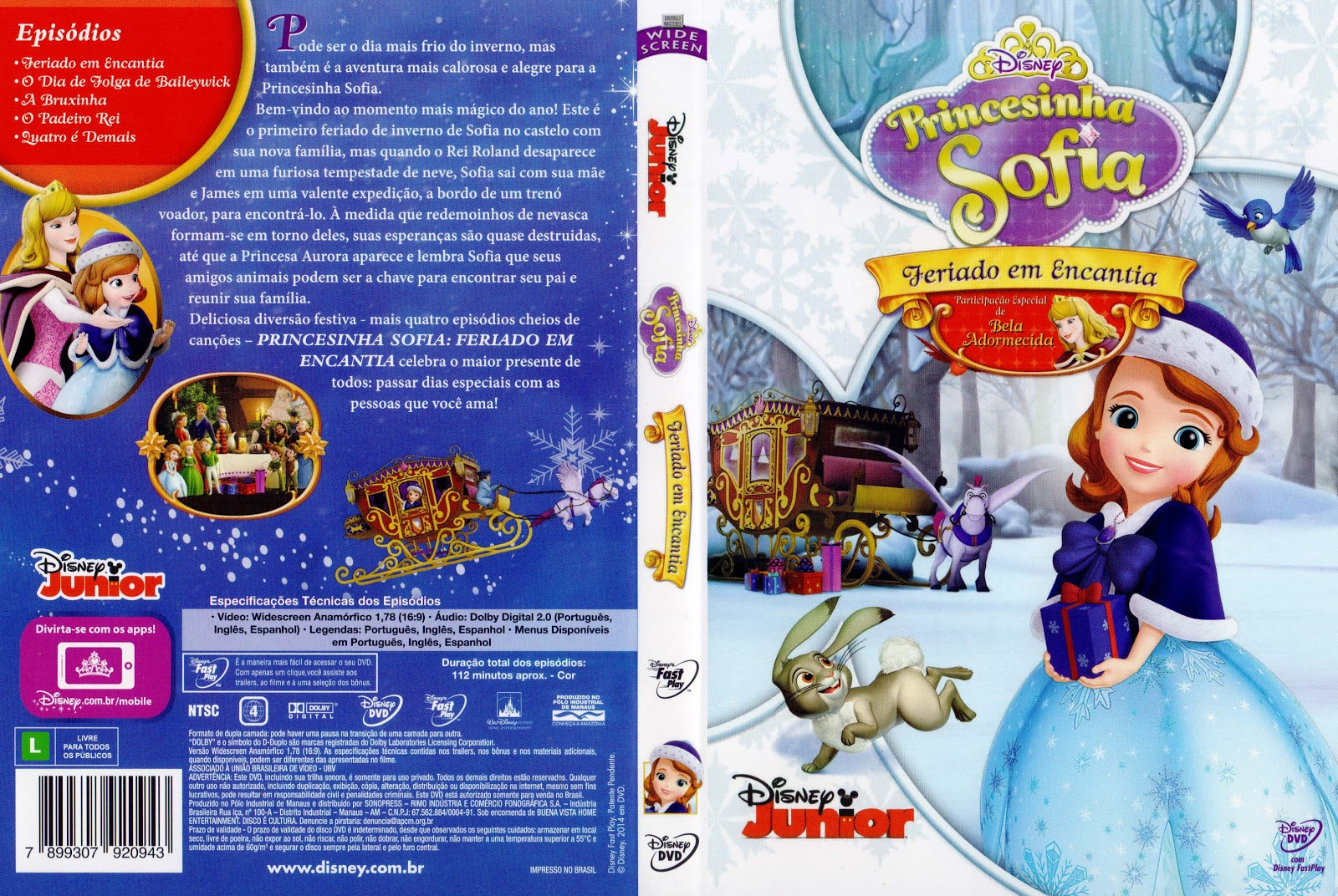 Capa DVD Princesinha Sofia Feriado Em Encantia