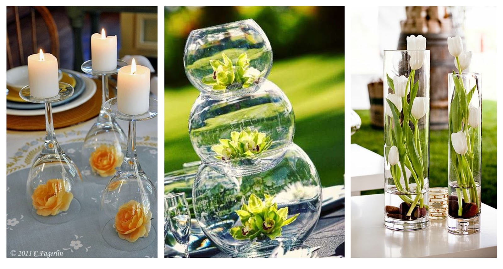 Something borrowed diy glass centerpieces