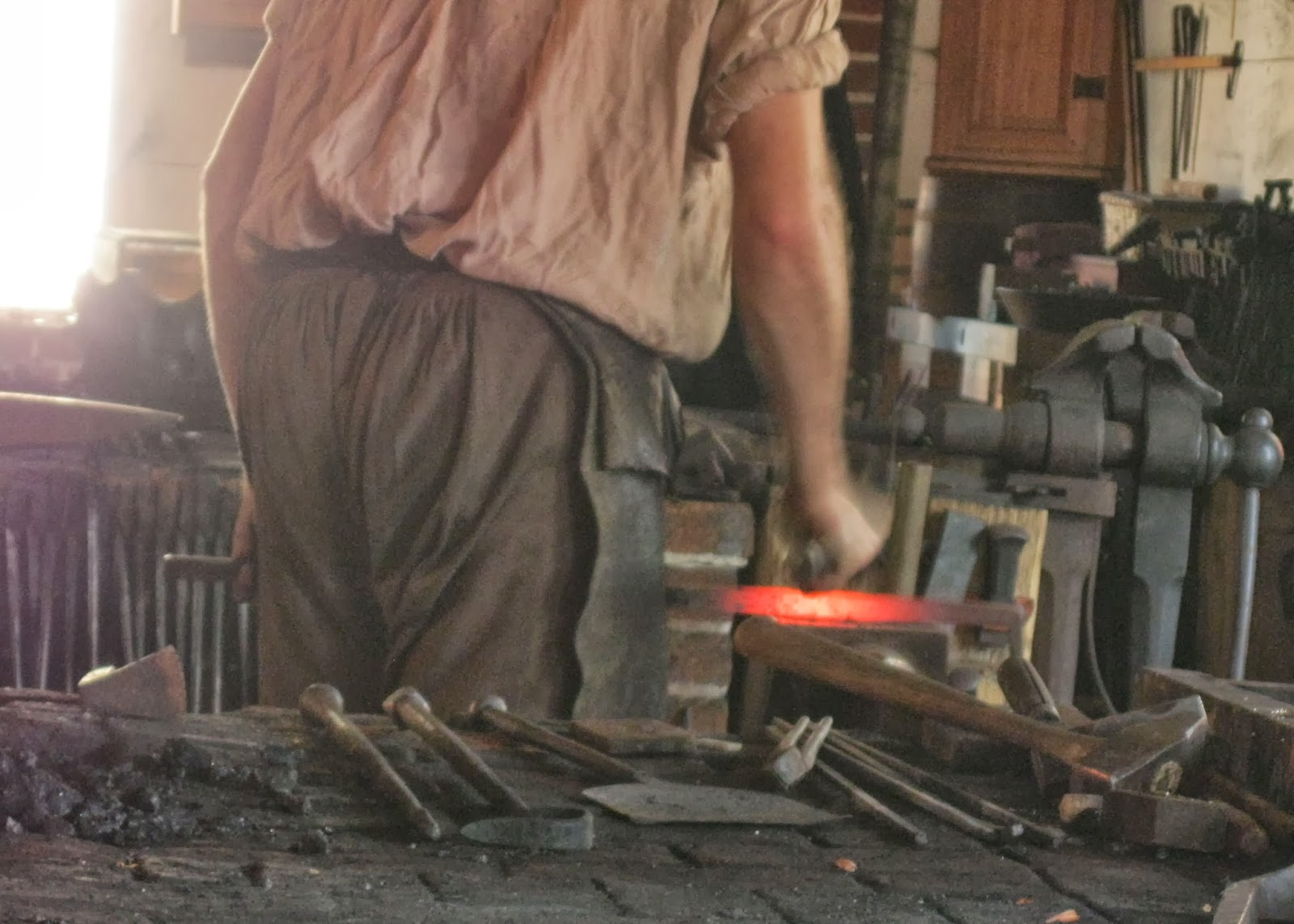Blacksmith In Colonial Times