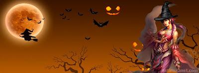 capas para facebook tema halloween com bruxas