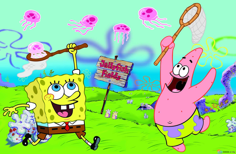 Патрик и спанч боб ловят медуз