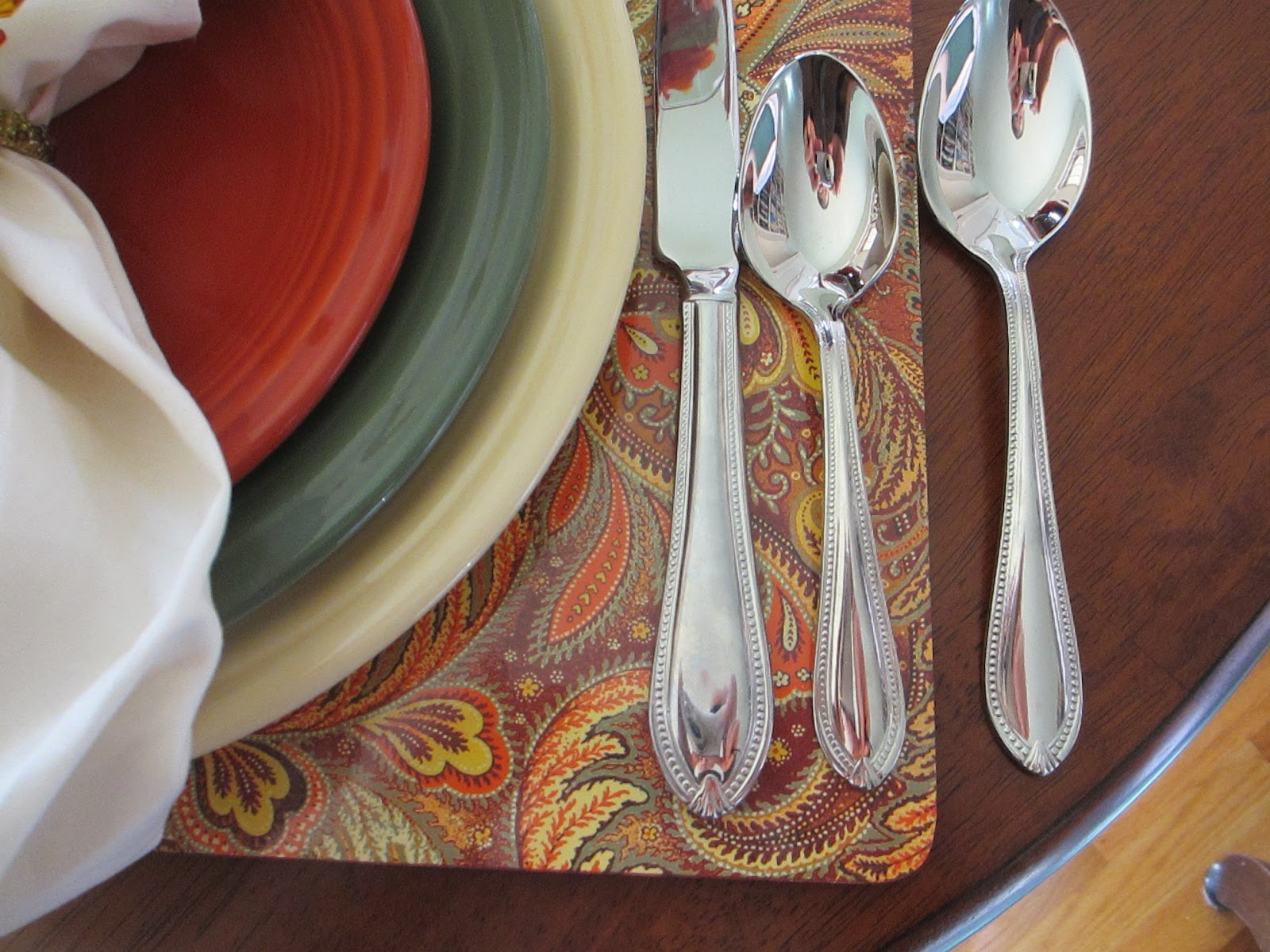 Table For One Fall Fiesta Dinnerware Table