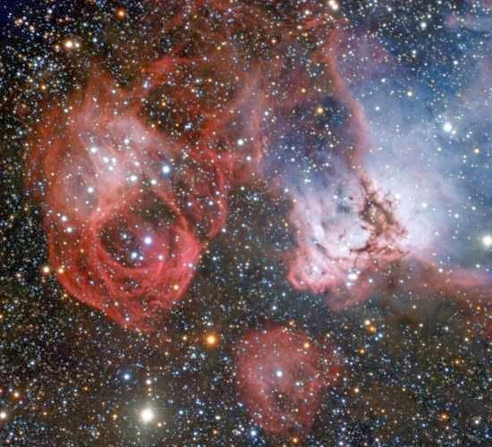 Nascimento e morte de estrelas captados em uma única imagem