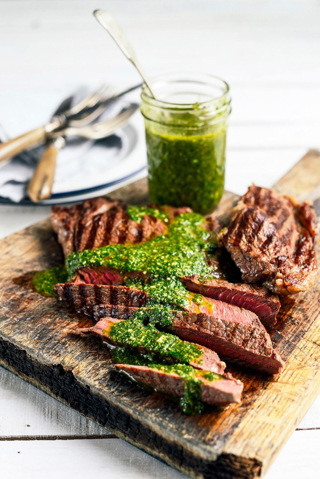 From The Kitchen: Barbecue Steak with Chimichurri Sauce