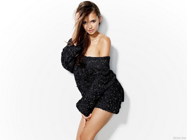 Nina Dobrev sexy in mini dress