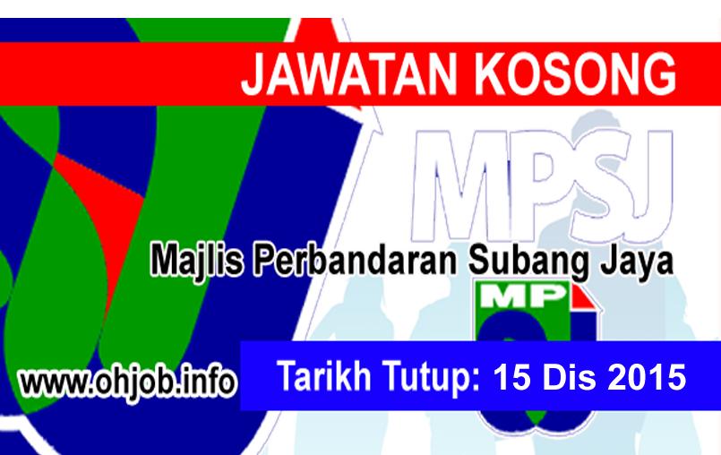 Jawatan Kerja Kosong Majlis Perbandaran Subang Jaya (MPSJ) logo www.ohjob.info disember 2015