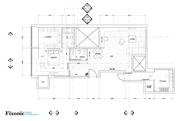 New floor plan of the small Hong Kong apartment