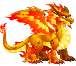 imagen del dragon fuego doble de dragon city