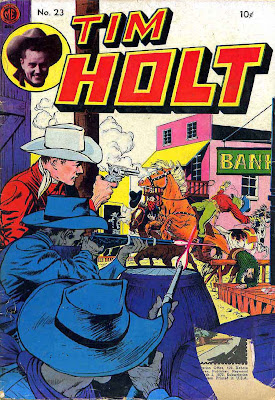 Tim Holt v1 #23 golden age western comic book cover art by Frank Frazetta