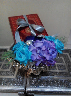 Gubahan Hantaran Artificial Biru Purple {Al-quraan}
