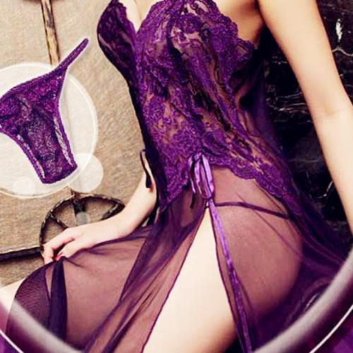 Sensual Woman in Purple