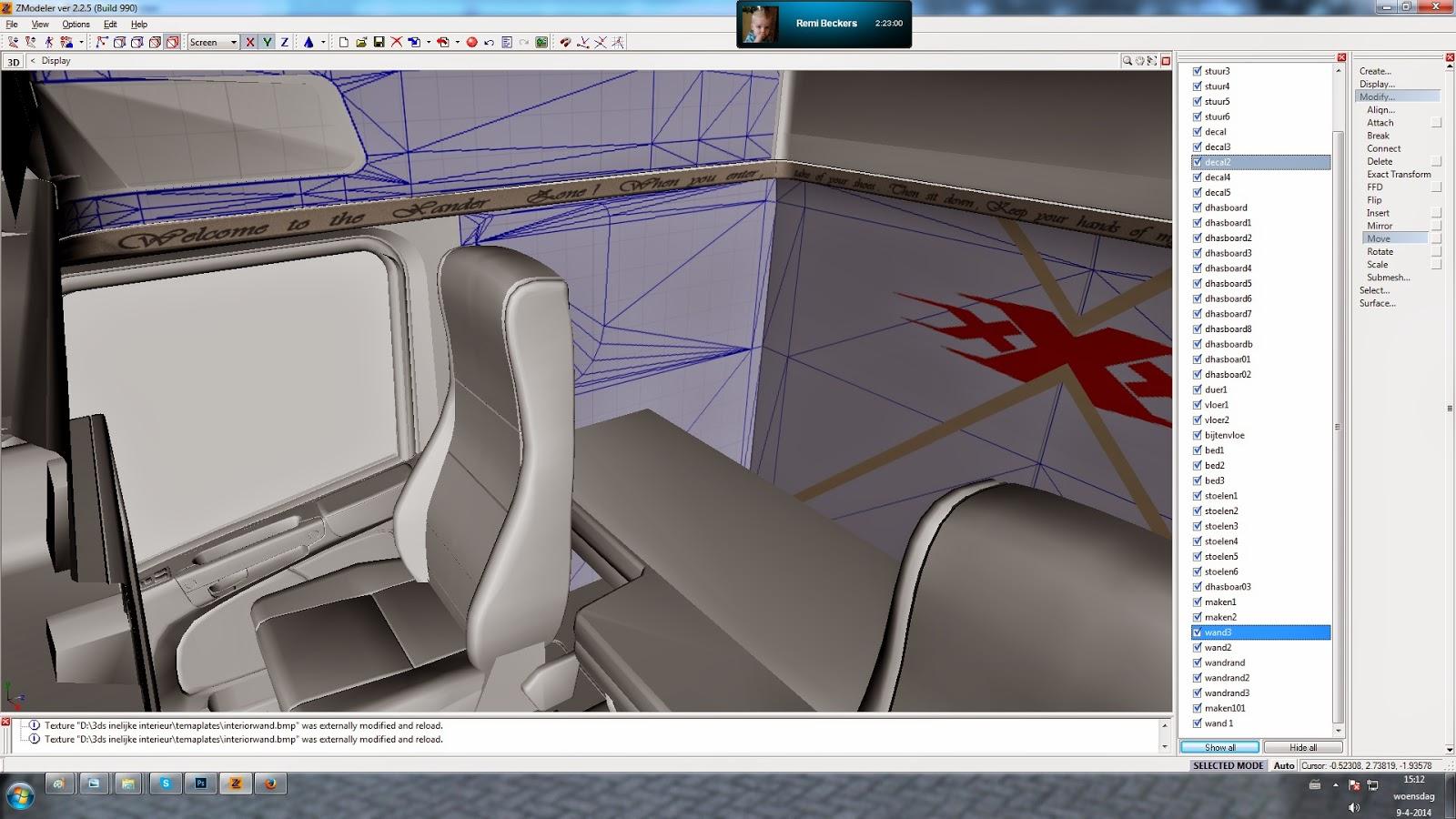 Prive projecten voor truck simulator games van scs for Interieur software