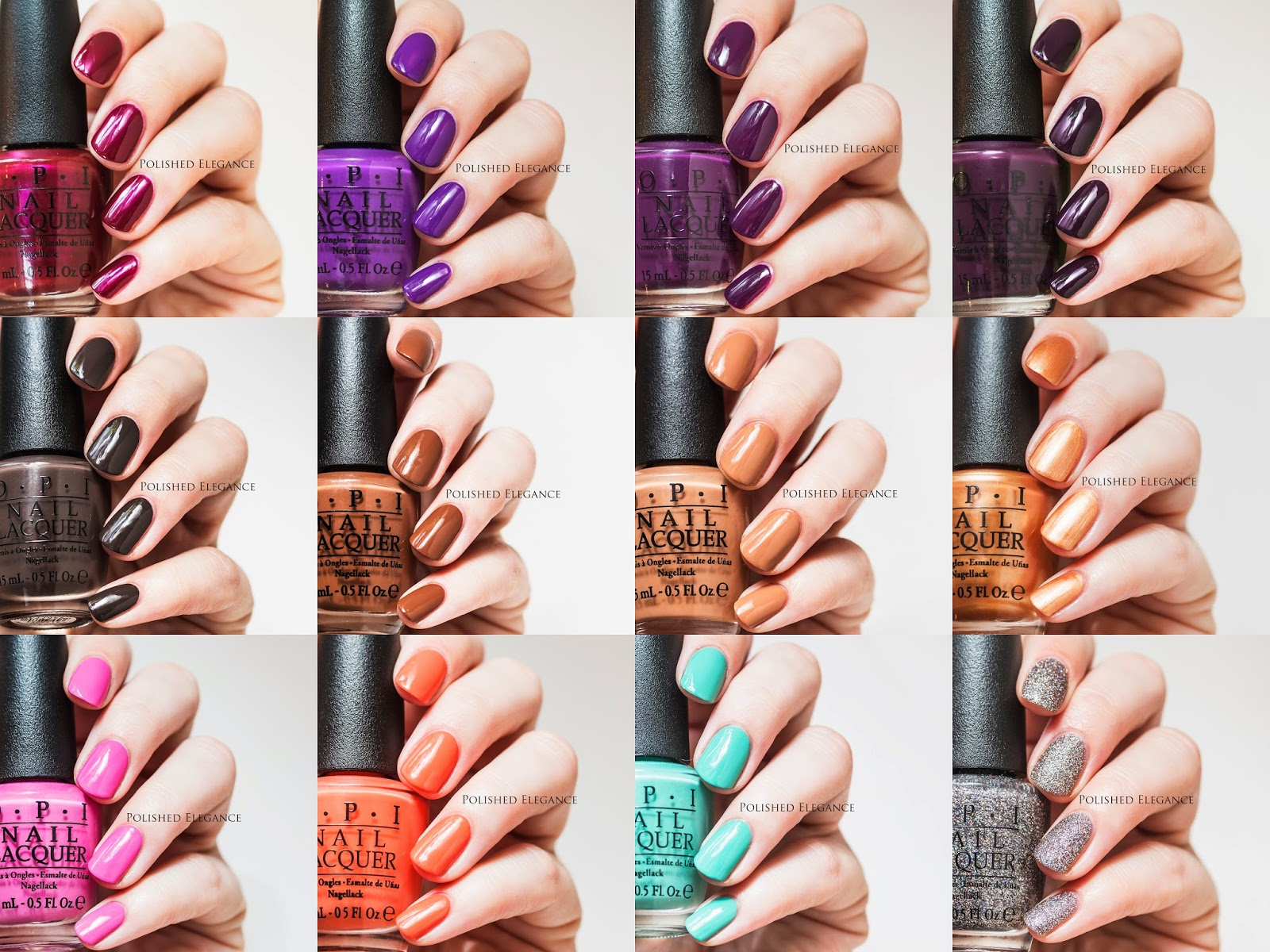 OPI Nordic Collection - swatches and review
