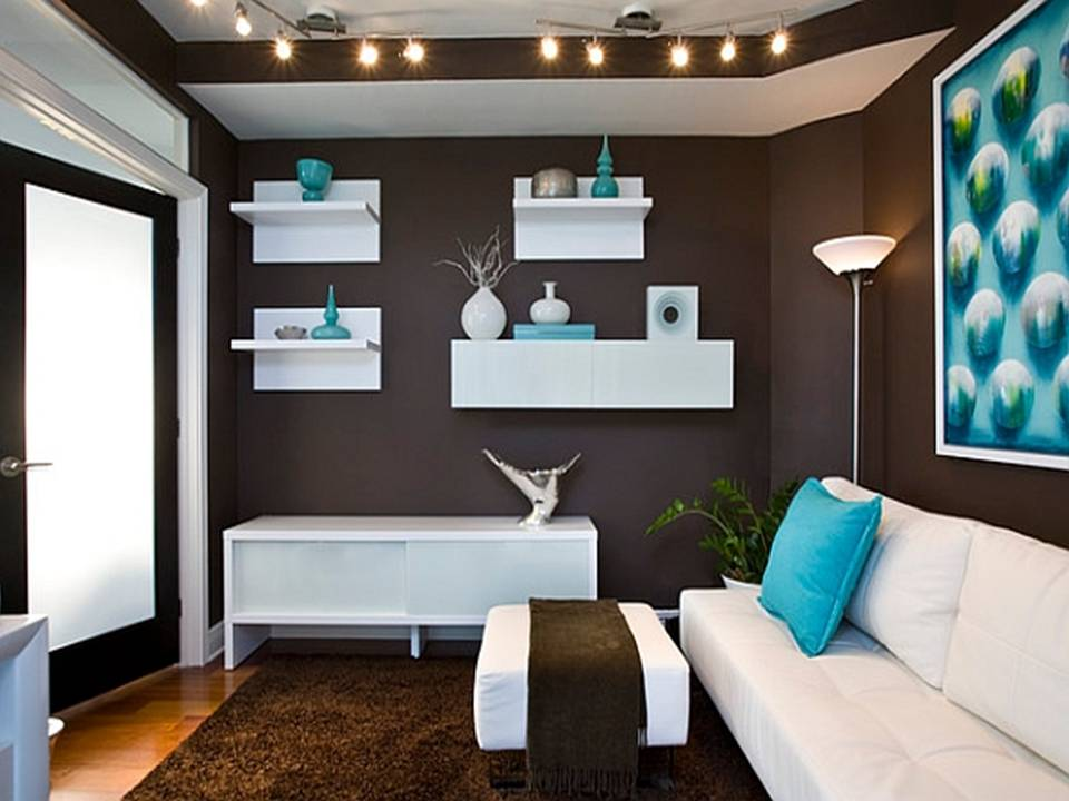 Home decor brilliant turquoise interior designs for Brown and turquoise living room ideas