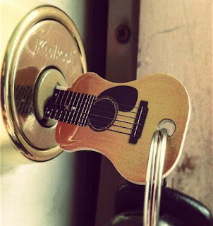 Accoustic Guitar Keychain