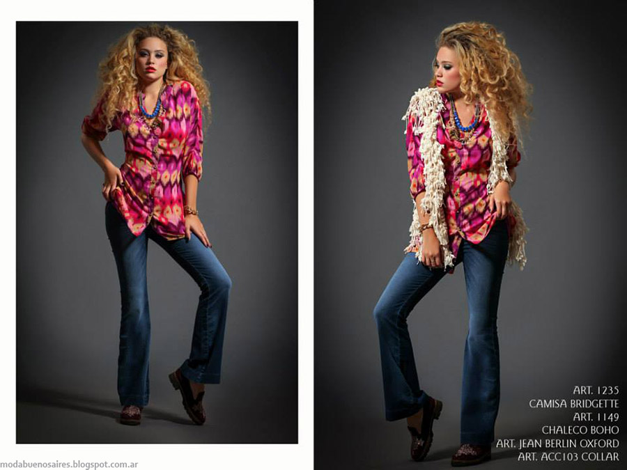 Camisas otoño invierno 2015 Sophya. Moda invierno 2015.