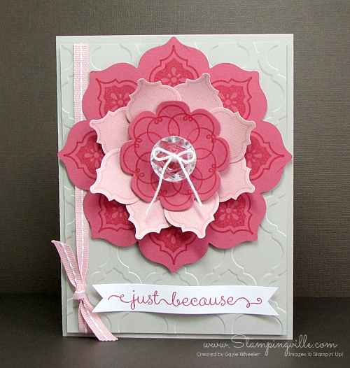 Stampin' Up! Mosaic Madness Flower Blossom Card