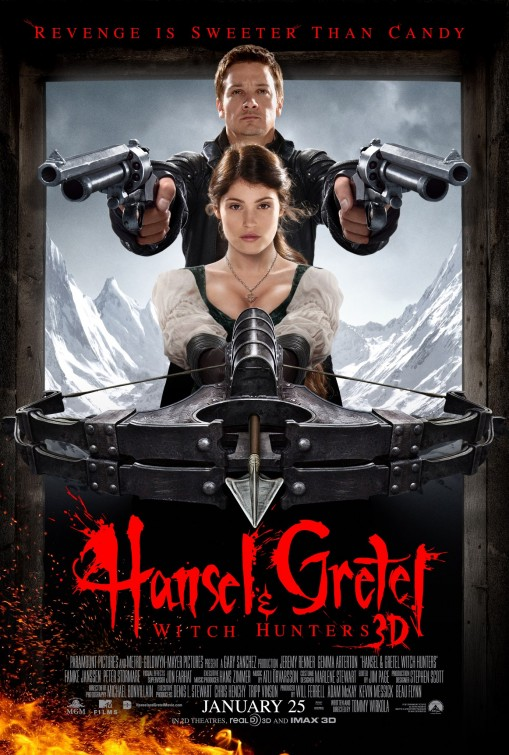 Hansel Gretel Witch Hunters movie poster
