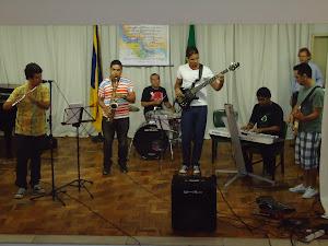 Dia 21/11/201  -  Apresentações  Musicais,  Leo Couto (flauta), Nerisvaldo Gomes (saxofone),