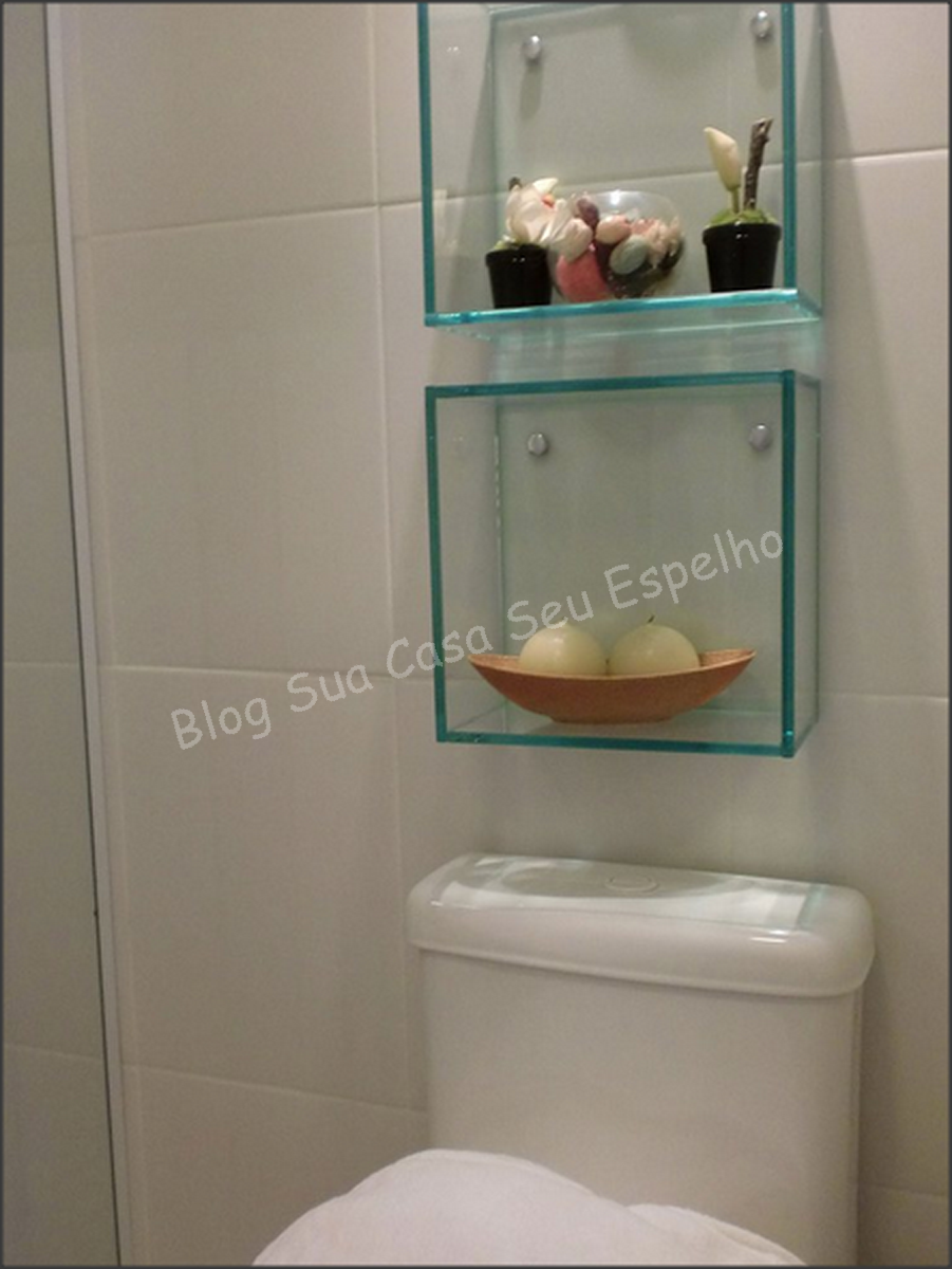 Bom Gosto e Conveniência Decorando seu Banheiro com Nichos -> Nicho Para Banheiro Em Acrilico