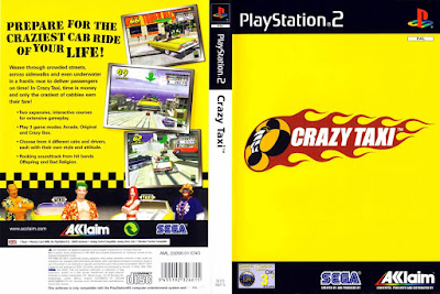 Jogo Crazy Taxi PS2 DVD Capa