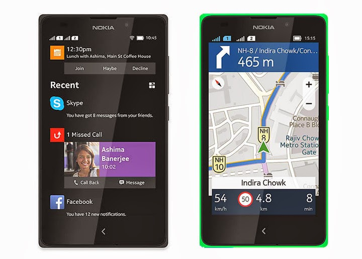 Nokia XL Fastlane and HERE Maps