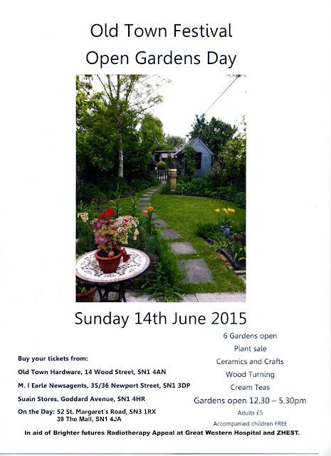 Swindon Open Studios Old Town Festival Open Gardens Day