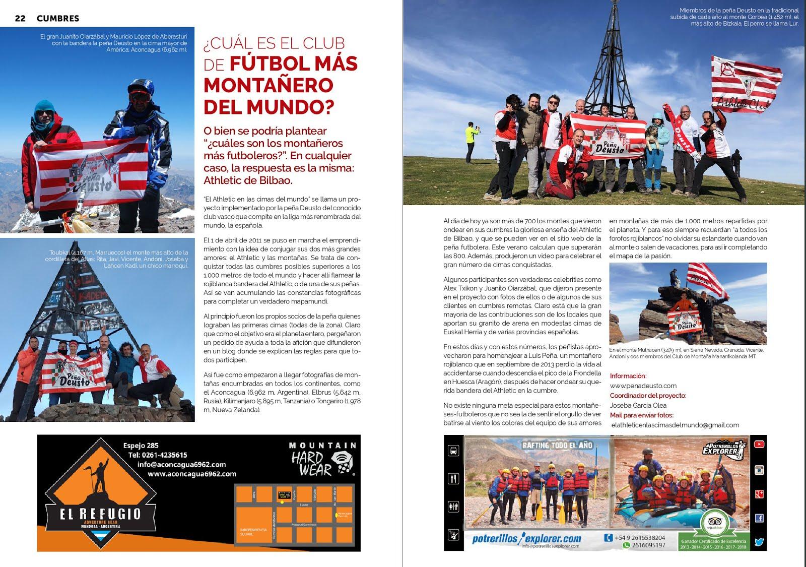 """ARTICULO PUBLICADO EN LA REVISTA """"CUMBRES"""" DE MENDOZA (ARGENTINA)"""