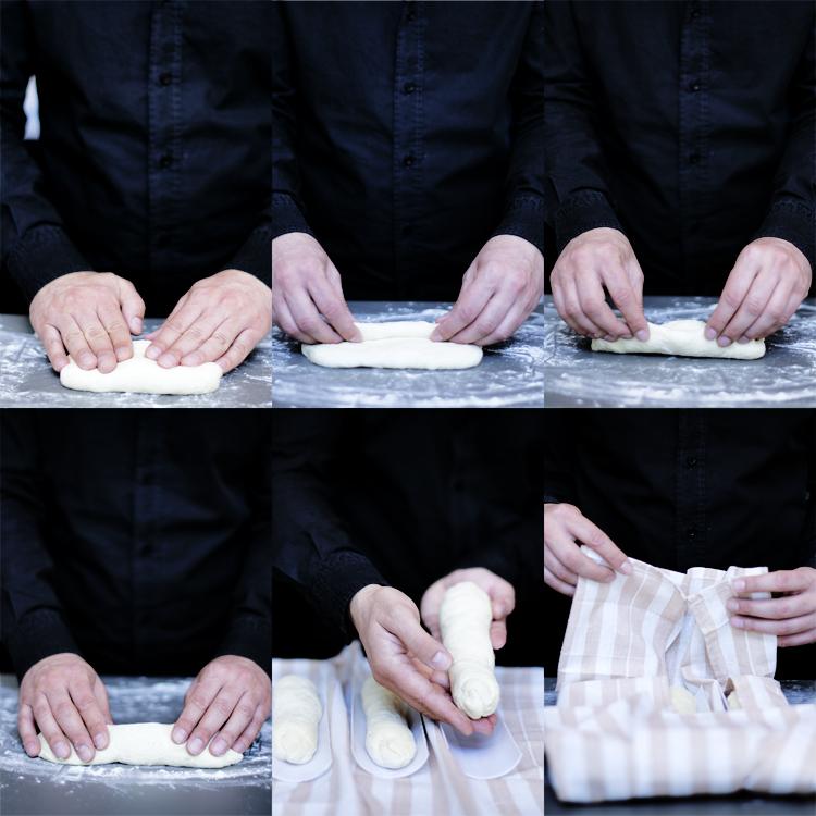 plegado Baguettes [ ¿Cómo hacer pan en casa? ]