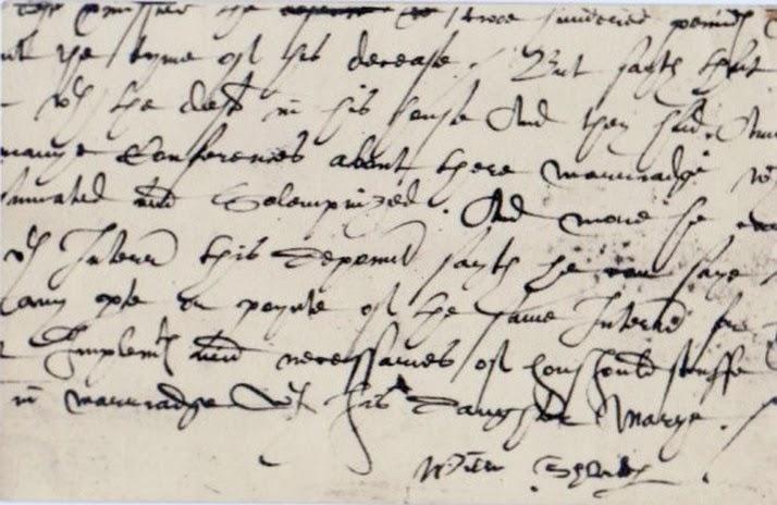 Tudor Handwriting