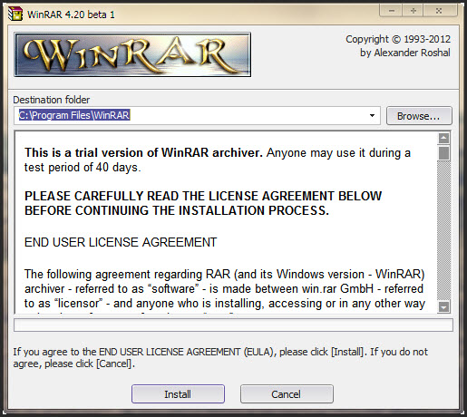 Download WinRAR 4.20 (64-bit)