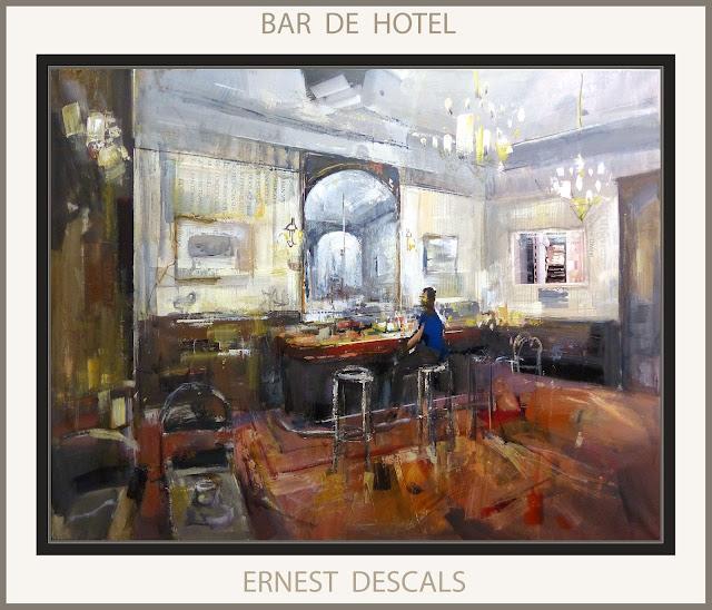 HOTEL-PINTURAS-HOTELES-BAR-PINTURA-CUADROS-INTERIORES-ARTISTA-PINTOR-ERNEST DESCALS-