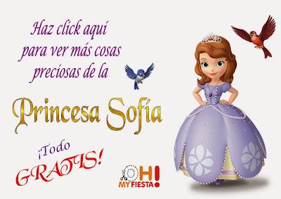 Ideas y material para Imprimir Gratis de Princesa Sofía.