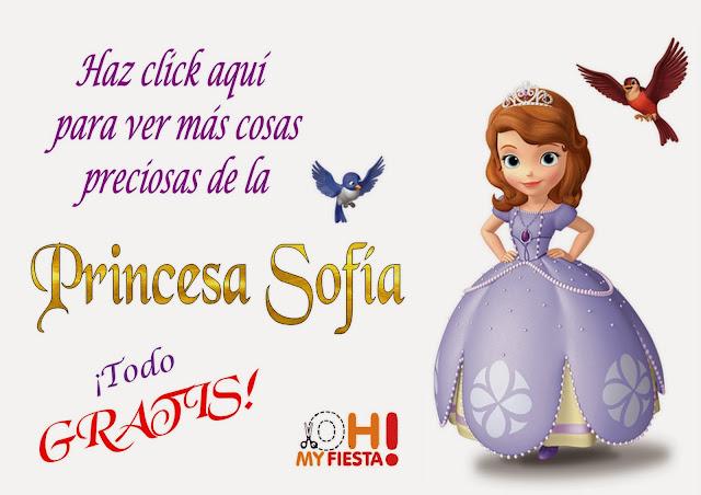 ideas y material para imprimir gratis de princesa sofa