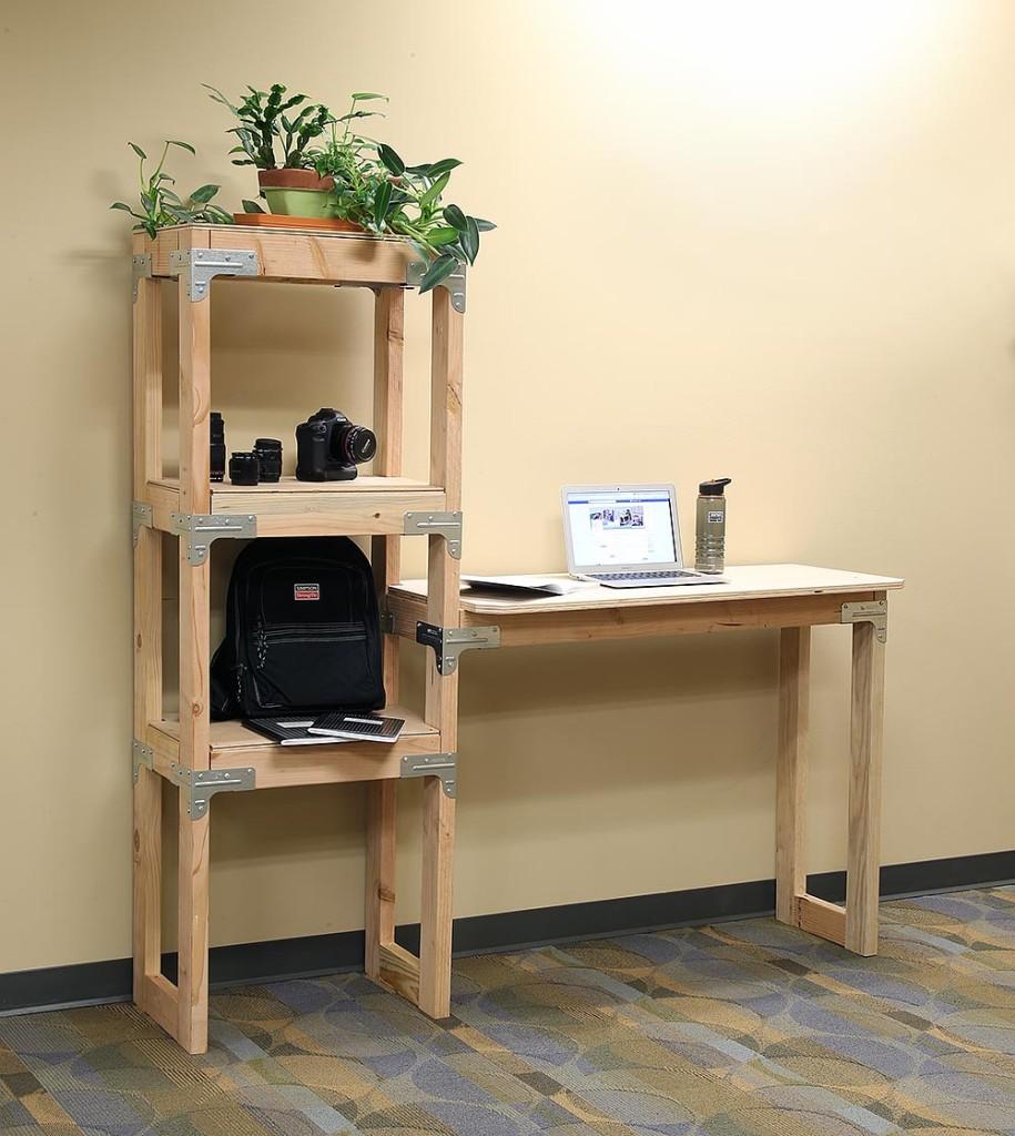 Standing Desk W/Shelves